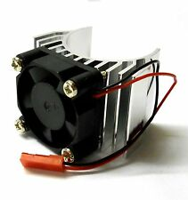HY00019S 540 550 Motor Cooling Heatsink Heat Sink Vented Alloy Silver Single Fan