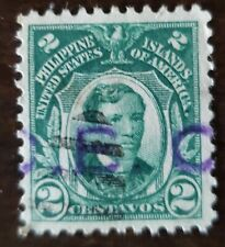 Philippines stamp hand stamped OB used hinged .