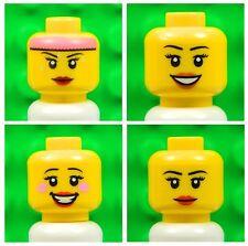 LEGO Femelle Jaune têtes [x4] Pour Minifigures girl woman sourire Lèvres # NOUVEAU # 4p1