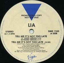 LIA Tell Me It's Not Too Late (1988 U.S. 6 Track Promo 12inch)