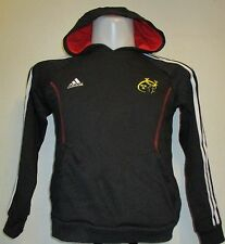 MUNSTER RUGBY BOYS  BLACK HOODY BY ADIDAS SIZE 11/12 YEARS BRAND NEW WITH TAGS