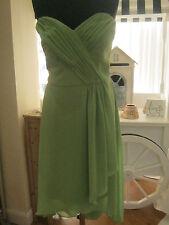 DESSY Ladies 14 Green Strapless Cocktail Length dress