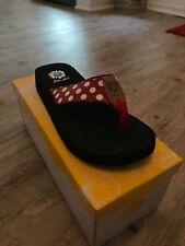 Yellow Box Zadie Red Polka Dot Flip Flop NIB Choose Size