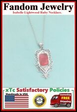 Isabelle Lightwood Ruby Silver Charm Necklace.