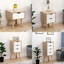 WestWood Bedside Table Cabinet Wooden Nightstand Storage Unit Drawer Bedroom