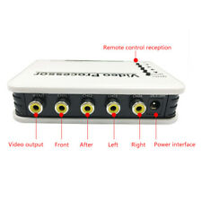 12V-24V Car Truck Panoramic 4-Way View AV Video Split-Screen Remote Control Box