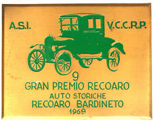 Placca 9° Gran Premio Recoaro Auto Storiche 1969 ASI #KG210