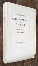EO 1953 pur fil MARCEL PROUST : CORRESPONDANCE AVEC SA MÈRE 1887-1905 P.Kolb