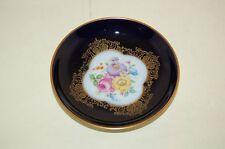 Konfektteller 10,5 cm unbekannt kobalt gold Blumen Hutschenreuther CM