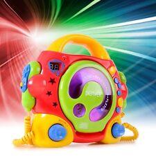 Karaoke CD Player Musikanlage bunt Kinderanlage sing-a-long mit 2 Mikrofonen
