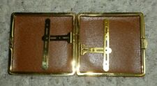 """New listing True Vintage Leather Cigarette Case Box Holder Opens Closes Nicely 4"""" x 3.75"""""""