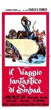 The Golden Voyage of Sinbad 1973 John Phillip Law Italian locandina