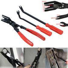 3Pcs Car Door Trim Clip Plier & Fastener Remover Puller Repair Tool Kit Set