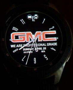 """Verizon LTE"" Samsung Galaxy Watch SM-R805U 46mm Silver Case Black Strap"