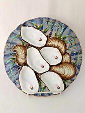 ANTIQUE TURKEY OYSTER PLATE SGND., DAVIS COLLAMORE NEW YORK