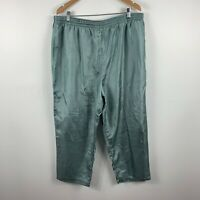 BIB Big Is Beautiful Women Pants Size Large 22-24 Metallic Green Elastic Waist