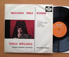 LXT 5514 Teresa Berganza Sings Rossini Gibson 1959 EX/VG Decca Mono (= SXL 2132)