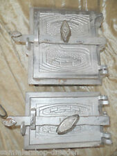 21926 Ofentür Paar Jugendstil signiert BEW oven door 1900  art nouveau pair