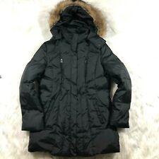 Andrew MARC New York Womens XL Down Fill Black Puffer Jacket Coat Faux Fur Hood