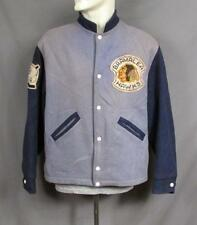 VINTAGE 1940s bramalea Hawks 2 Tonos Lana Chaqueta de Universidad Hockey Indio