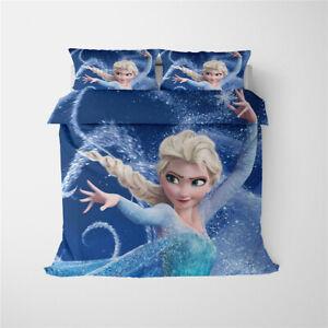 Frozen Elsa Single King Double King Super King Size Bed Duvet Quilt Cover Set