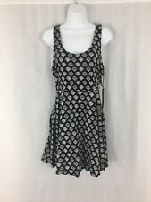 Vans off the wall cotton blend black white ribbed style dress Size L New tags