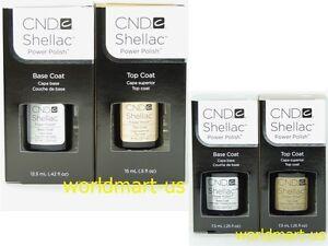 CND Shellac Gel Color UV Soak-Off Base /Top /Base & Top Coat /Choose Any Polish