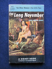 THE LONG NOVEMBER - SIGNED by JAMES BENSON NABLO to His Publisher, 1st PB Ed.