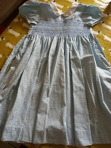 Girls Confiture light blue summer dress with blue and yellow flowers Age 8-9 yrs