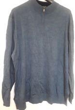 Club Room Blue Merino Wool Blend Long Sleeve Half Zip Sweater 3XLT Big & Tall