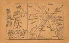 Knoxville Tennessee Red Cross Canteen Map Antique Postcard K57347