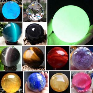 Lot Rare Natural Quartz Magic Gemstone Sphere Crystal Reiki Healing Ball Stone