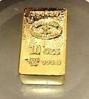 10 OZ SWISSBANK HUGE NUGGET 24K gold gilded collector bar -INVESTMENT RRP $150
