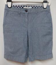"""Boden Navy Stripe Cotton Stretch Shorts US 4  UK 8  Inseam 8"""""""