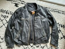 VINTAGE Harley Davidson Cafe Racer Leather Jacket XL