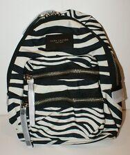 Marc Jacobs Womens Zebra Printed Mini Biker Backpack Bag Black Off White NWT