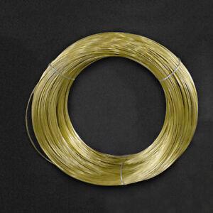 0.3/0.5/0.8/1/1.2/1.5/1.8/2/2.5/3mm Diameter Solid Pure Brass Wire Round 1/3/5M