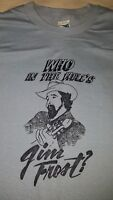 Vintage Who In The Hell's Jim Frost T-Shirt + Cassette New Sealed 1980's Size L