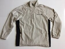 Nike Golf Mens M Beige Black 1/2 Zip Windbreaker Jacket Wheaton College