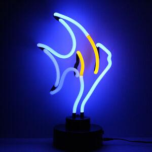 Neon Yellow Tang Tropical Fish Aquarium Decoration Anglers Retail Sign 37CM High