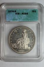 1876 S Micro S Trade Silver Dollar ICG AU58