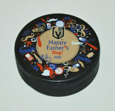 VEGAS GOLDEN KNIGHTS Happy Father's Day 2018 SOUVENIR PUCK T-Mobile Exclusive