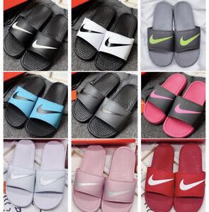 Womens&Mens Sliders Shower Shoes Flip Flops Pool Sliders Holiday Sandals Slip on