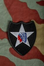 Distintivo US 2nd Infantry Division toppa, WW2 Army Indianhead insignia patch