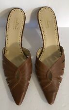 Sudini Womens Shoes Heels Brown Pointy Toe Size 11.5  Slides