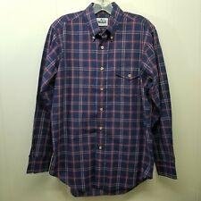 Woolrich S M Red White Blue Plaid Button Up Shirt No Tag Lightweight Pocket