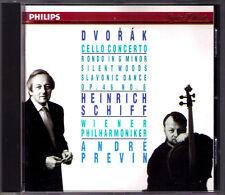 Heinrich navire Dvorak concerto violoncelle Silent Wood Rondo Slavonic Dance Previn CD