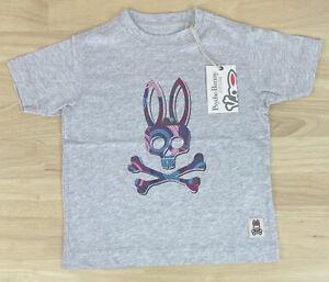 Psycho Bunny Boys Graphic Crew Neck Heather Lunar Shirt - Size XXS/4 - NWT $45