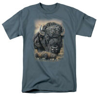 Wild Wings Wildlife Art SUNSET BUFFALO BISON Licensed Adult T-Shirt All Sizes