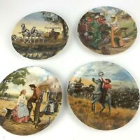 """Lot of 4  Knowles """"Oklahoma"""" Collector Plates by Mort Kunstler 1985"""